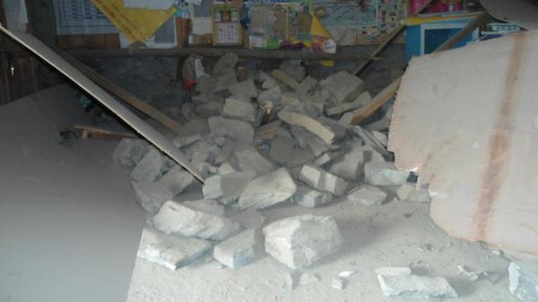 Ecole détruite en montagne