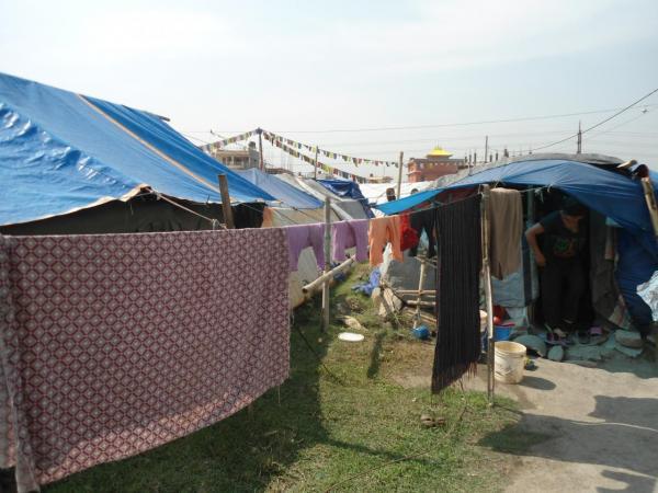 2016- Encore beaucoup de camps de réfugiés à Kathmandu