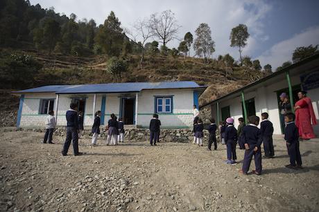 Deepli finished school building